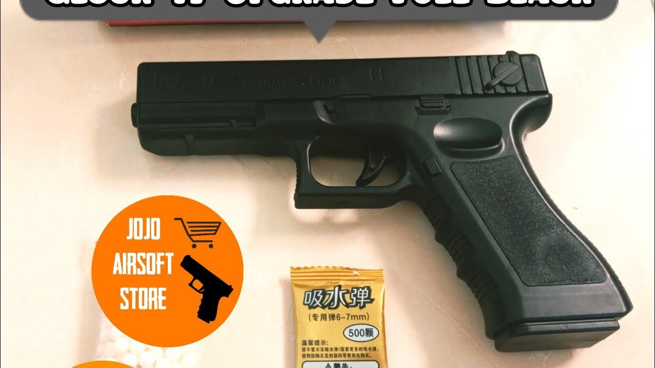Airsoft Gun Spring Glock Review 17 Mise à niveau complète noire | Airsoft Indonésie