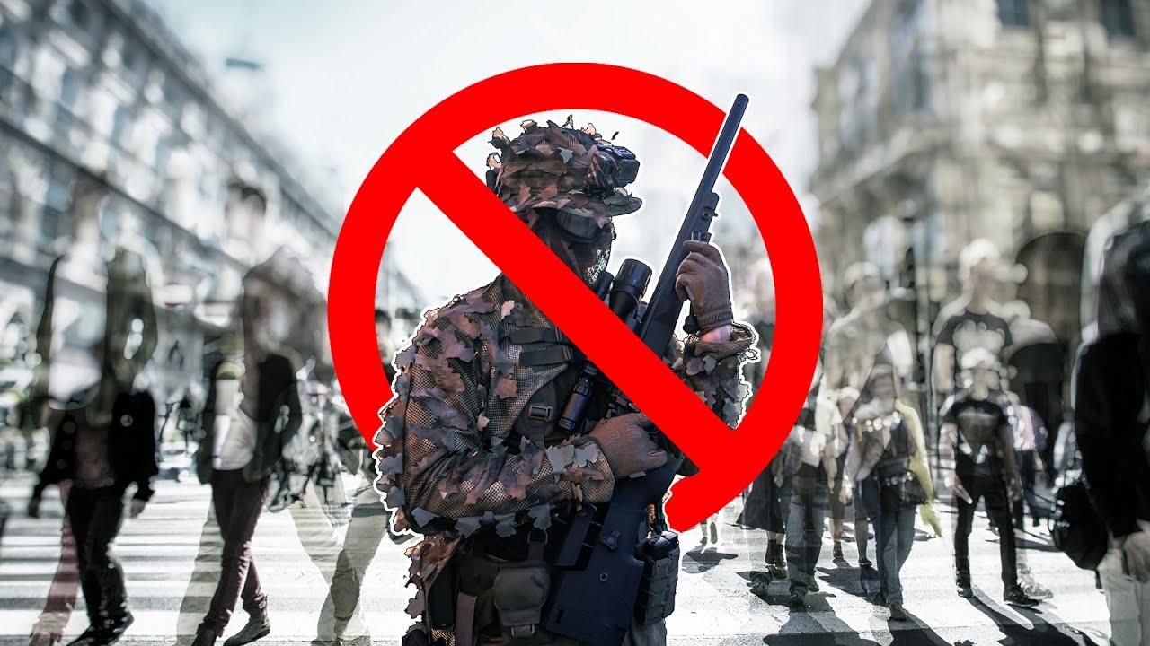 Airsoft Guns en public – Ne faites pas ça!