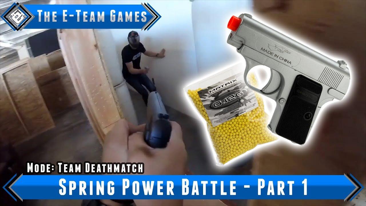 Les jeux E-Team – Spring Power Battle Partie 1 – Airsoft Evike.com