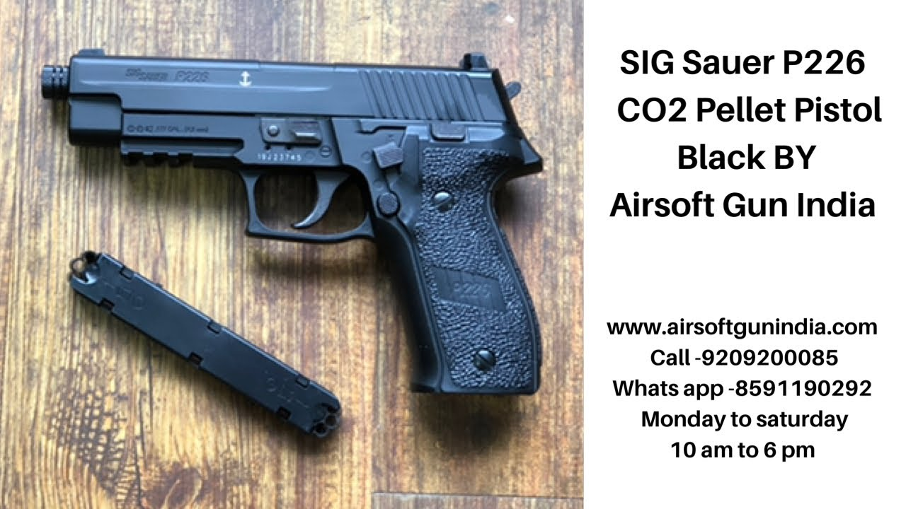 Pistolet à plombs SIG Sauer P226 CO2 noir par Airsoft Gun India