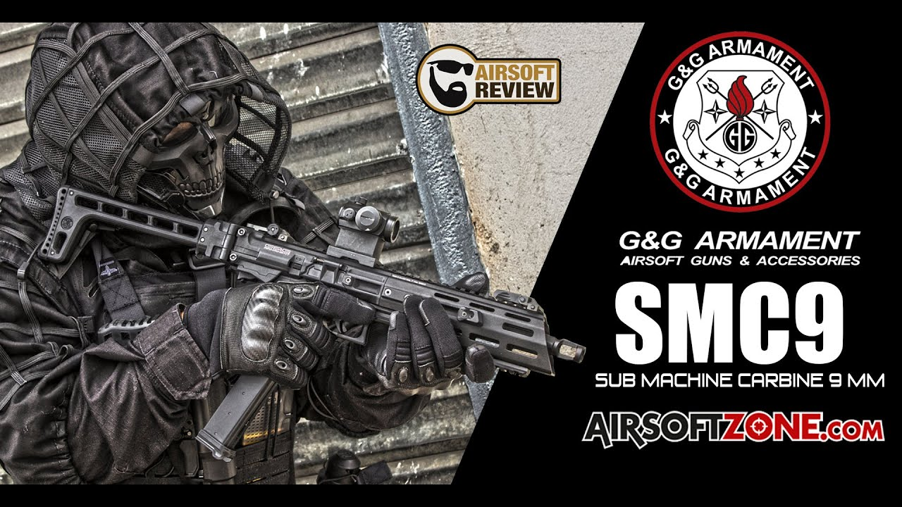 [ENG SUB] SMC9 SUB MACHINE CARBINE 9MM / G&G ARMAMENT / AIRSOFT ZONE # AIRSOFT REVIEW