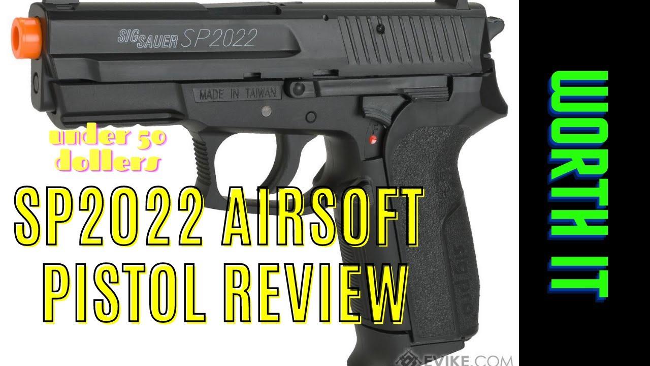 soucoupe sig pistolet airsoft sp2022 (avis)