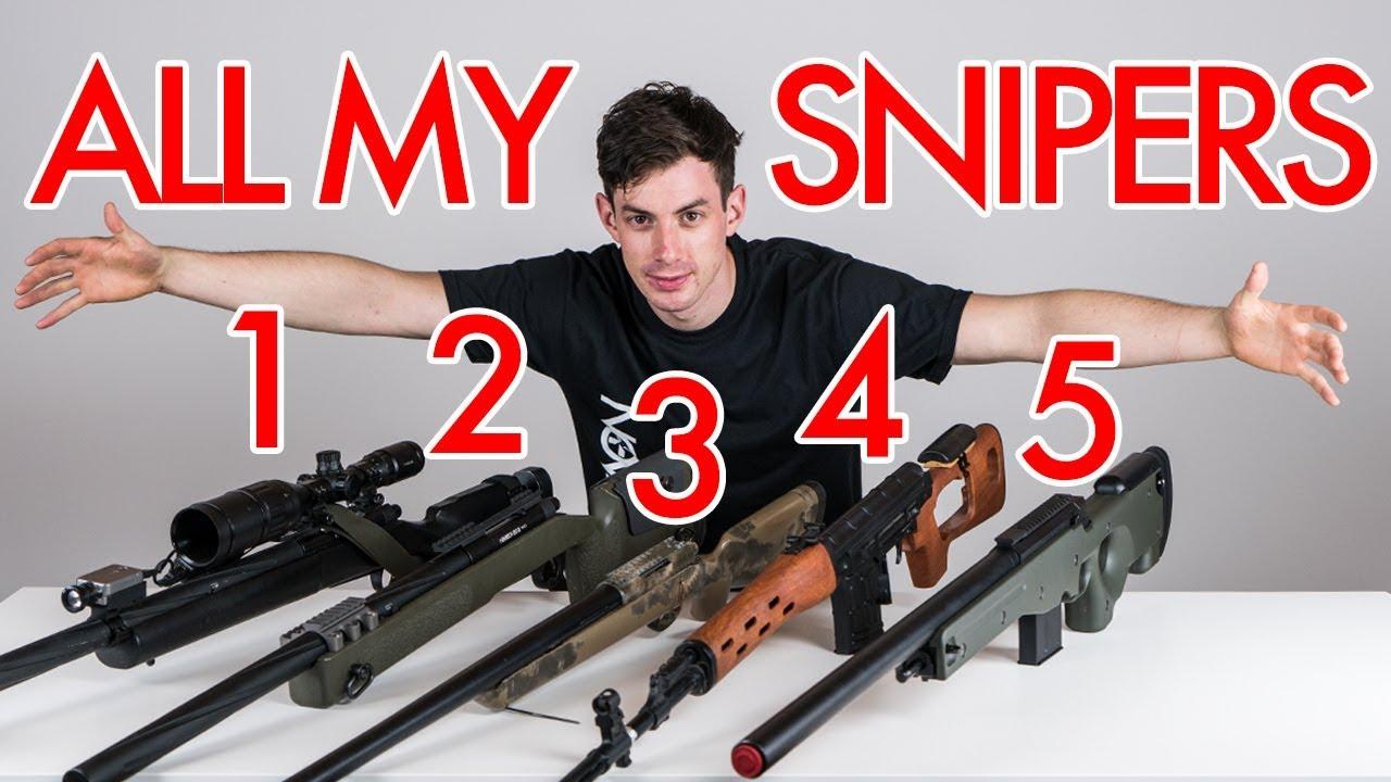TOUS MES FUSILS DE SNIPER – COLLECTION NOVRITSCH AIRSOFT GUN