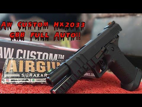 #airsoft gun Airgun Surakarta – Examen du pistolet Airsoft AW Custom Hx 2033 Full Auto GBB Pistol