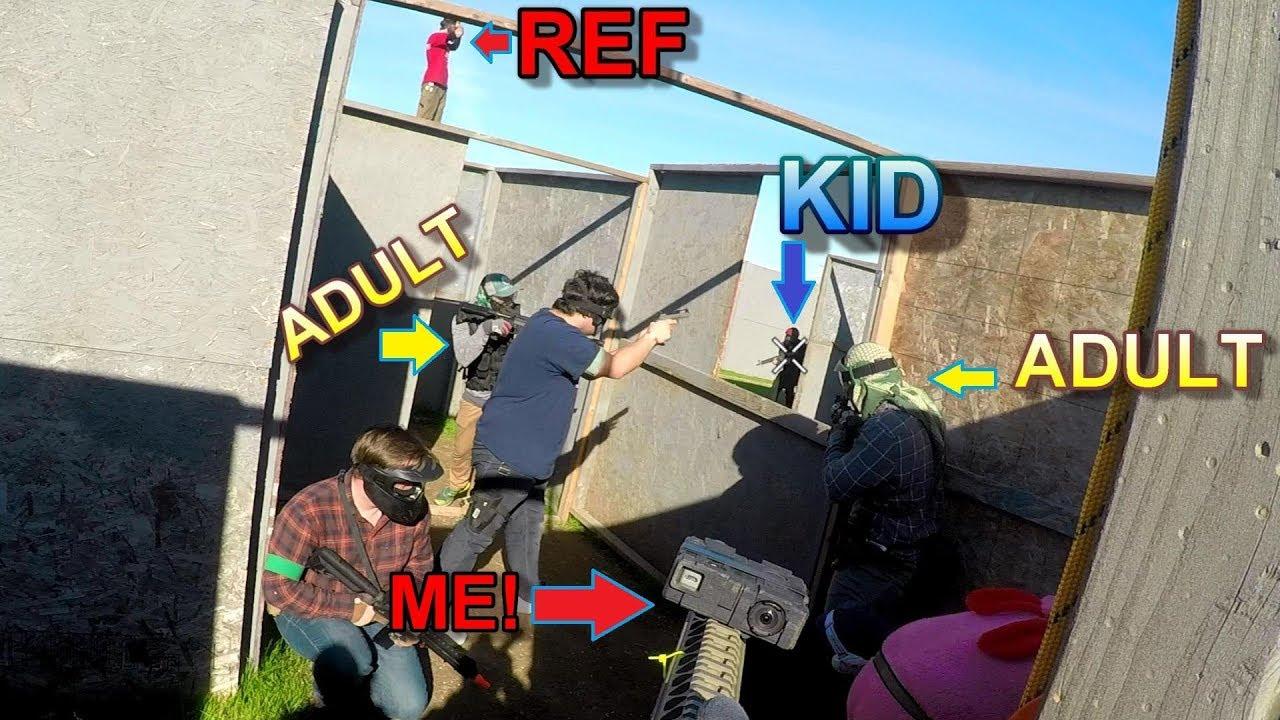 Grown Men LIGHT UP Airsoft kids DEVANT LA REF à Airsoft Ministry!