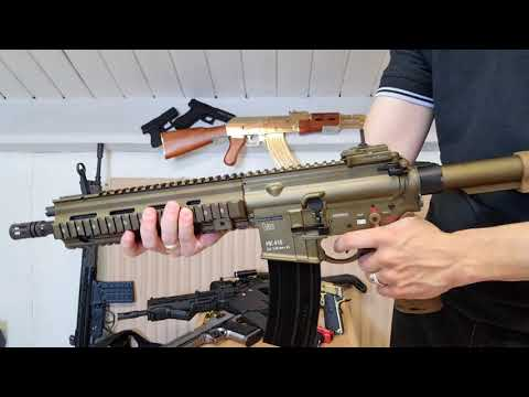 HK416 A5 RAL8000 GBB VFC HECKLER & KOCH AIRSOFT UNBOXING / REVIEW