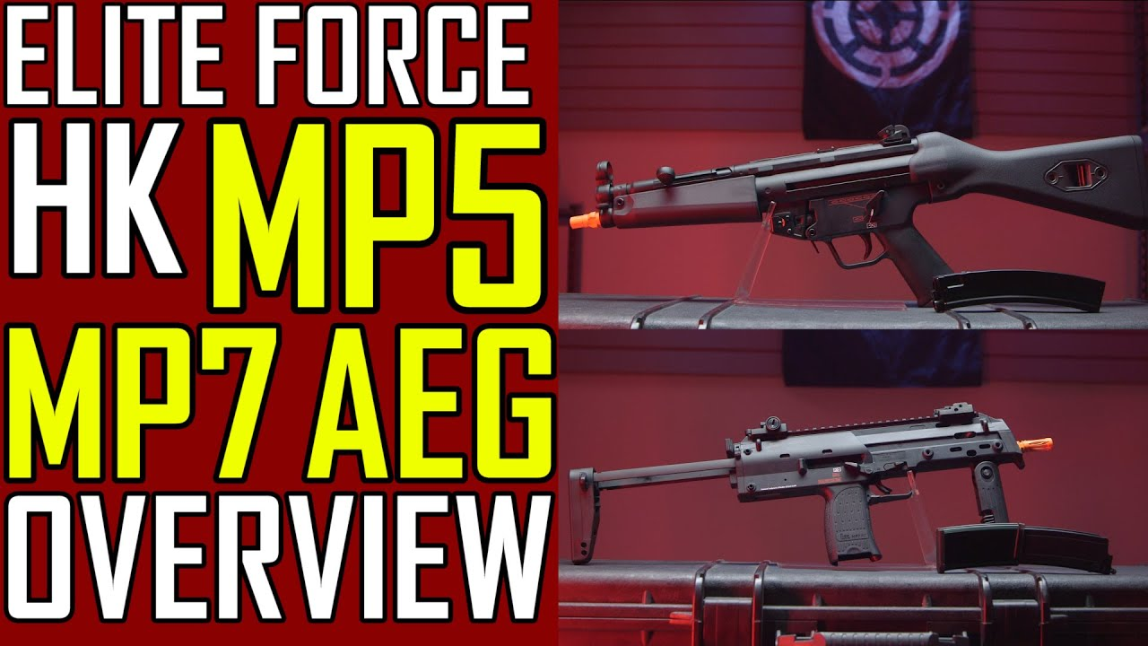AEG MP7?! (Elite Force MP7 AEG et MP5 AEG!) | Airsoft GI