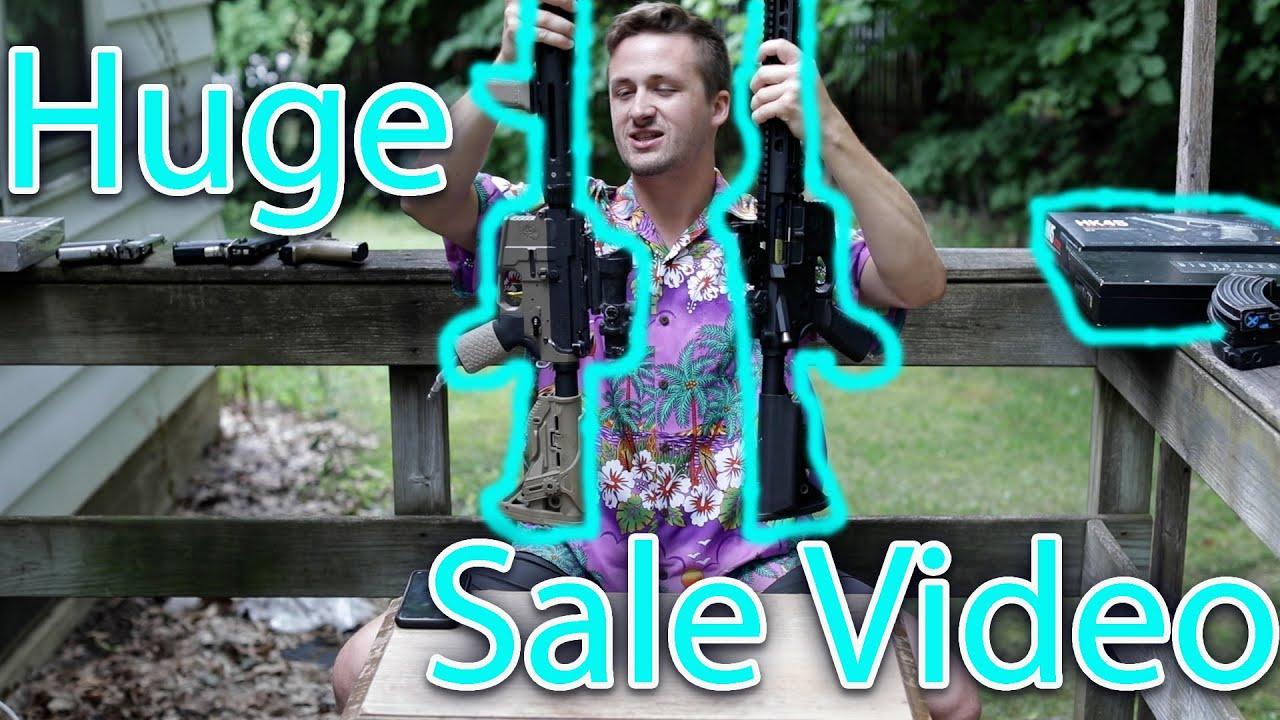 Énorme vidéo des soldes d'été! Armes à feu, équipement et accessoires à profusion !!!