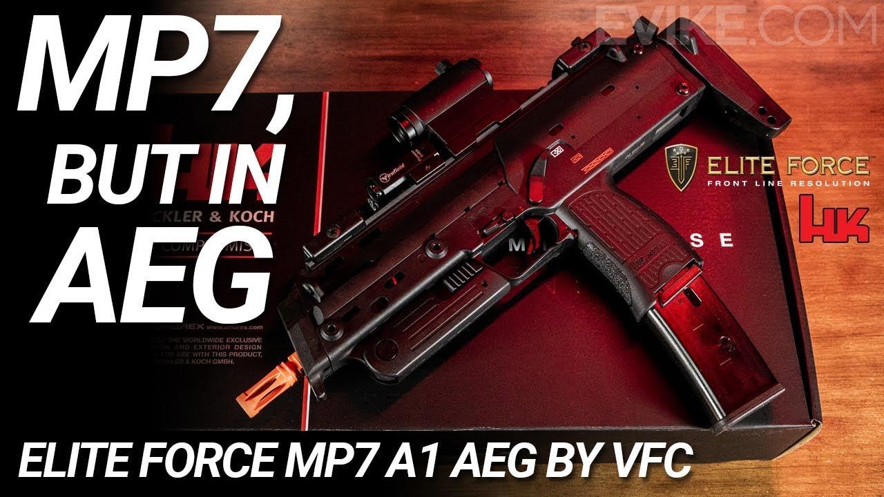 MP7, mais dans AEG – Elite Force MP7 A1 AEG – Airsoft Review