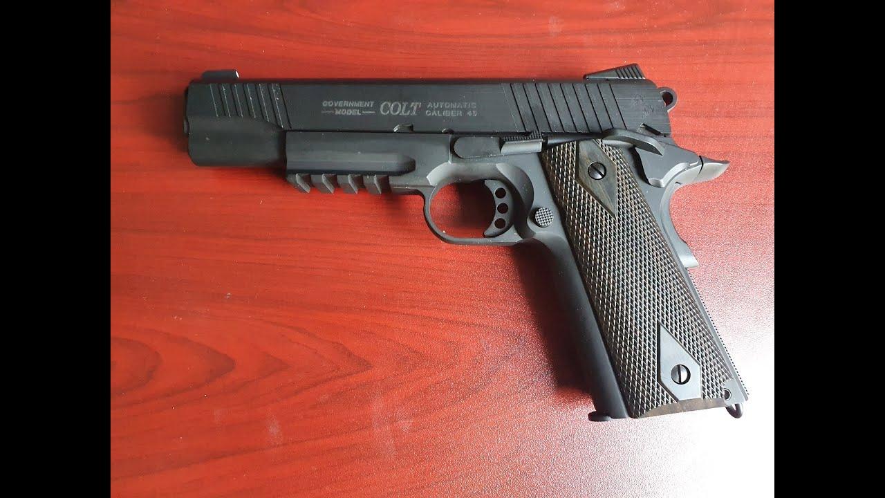 Donnez votre avis sur le canon à rails Colt 1911 de Cybergun, un bon pistolet airsoft pas cher