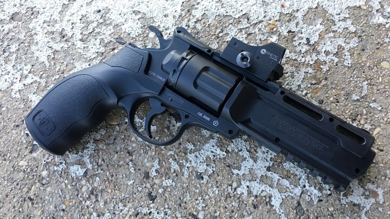 Examen du revolver CO2 Elite Force H8R de GBB Central