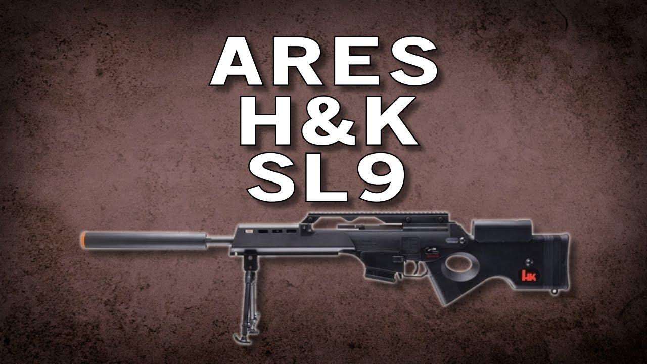 Airsoft GI – Fusil de précision électrique Ares H&K SL9 par Umarex – Test de portée vs G36CV