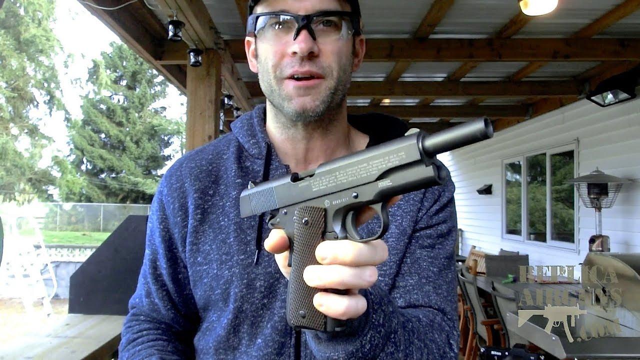 KWC Cybergun P1911 Swiss Arms CO2 Blowback BB Pistol Test Test sur le terrain