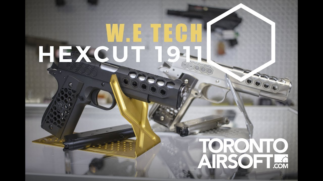 Test du pistolet WE-Tech 1911 Hex Cut Gen.2 GBB -TorontoAirsoft.com