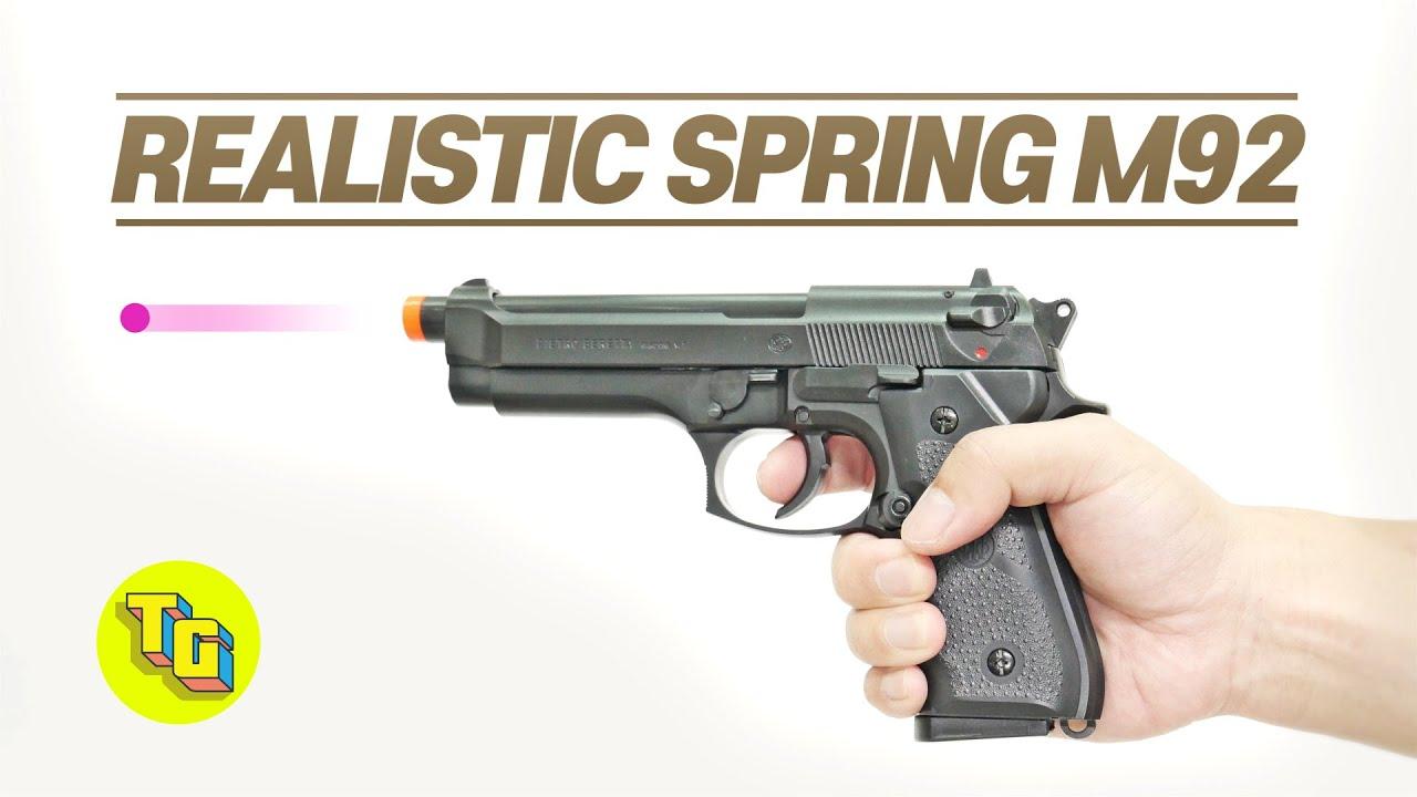 UMAREX BERETTA M92FS AIRSOFT GUN REVIEW l Jouets réalistes pistolets répliques de pistolets