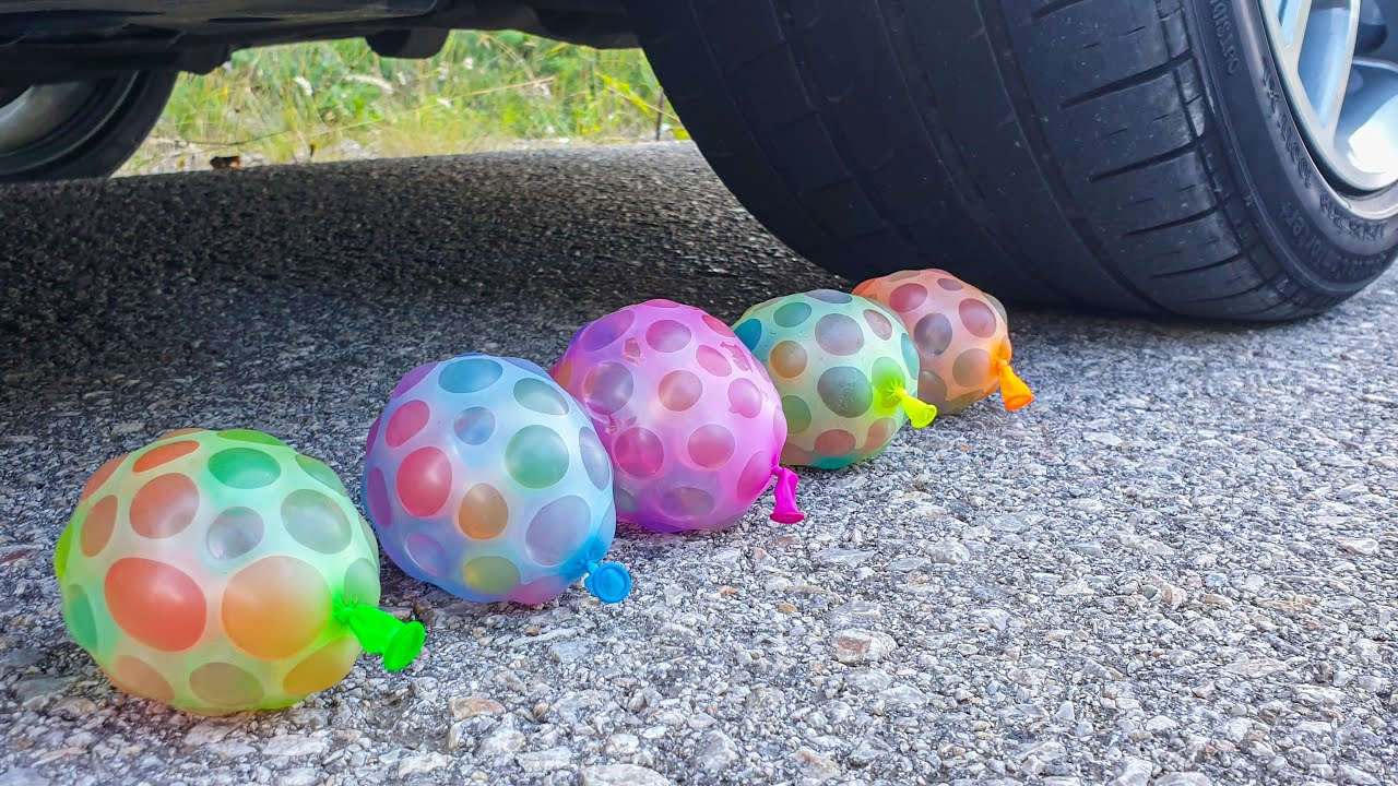 Crushing Crunchy & Soft Things en voiture! EXPERIMENT CAR vs Ballons Orbeez