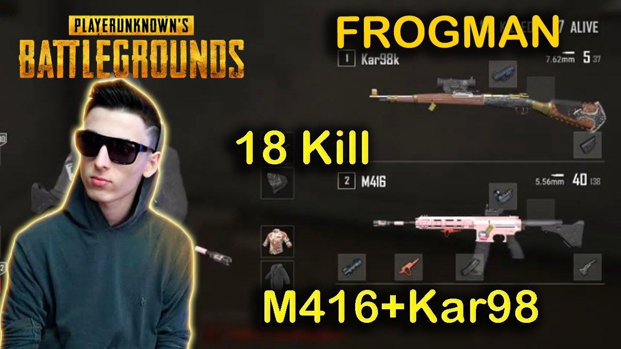 FROGMAN – 18 victimes (M416 + Kar98) – Erangel – Solo VS Squad – POINTS FORTS DE PUBG