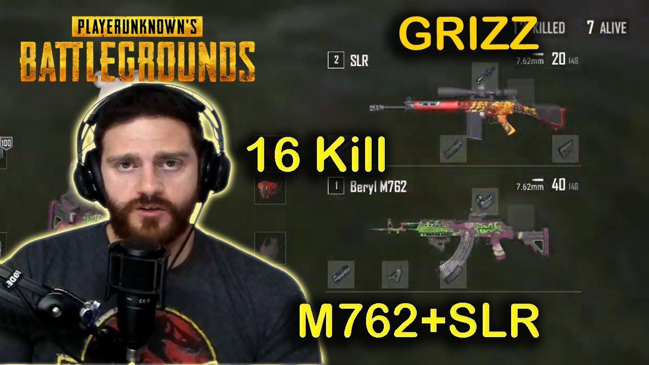 GRIZZ – 16 Kills (M762 + SLR) – Erangel – Solo – POINTS FORTS PUBG