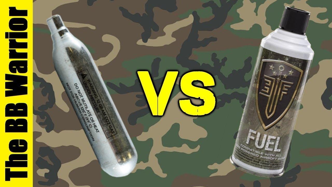 Gaz vert vs CO2   Quel est le meilleur pour Airsoft?