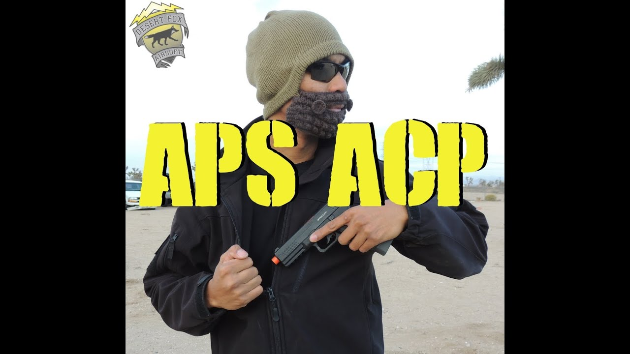 DesertFox Airsoft: APS ACP et Spetzgear Kydex Holster Review