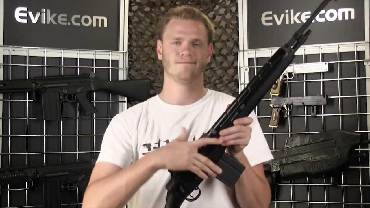 Airsoft Evike.com – Fusil AEG Airsoft pleine grandeur noir G&G M14