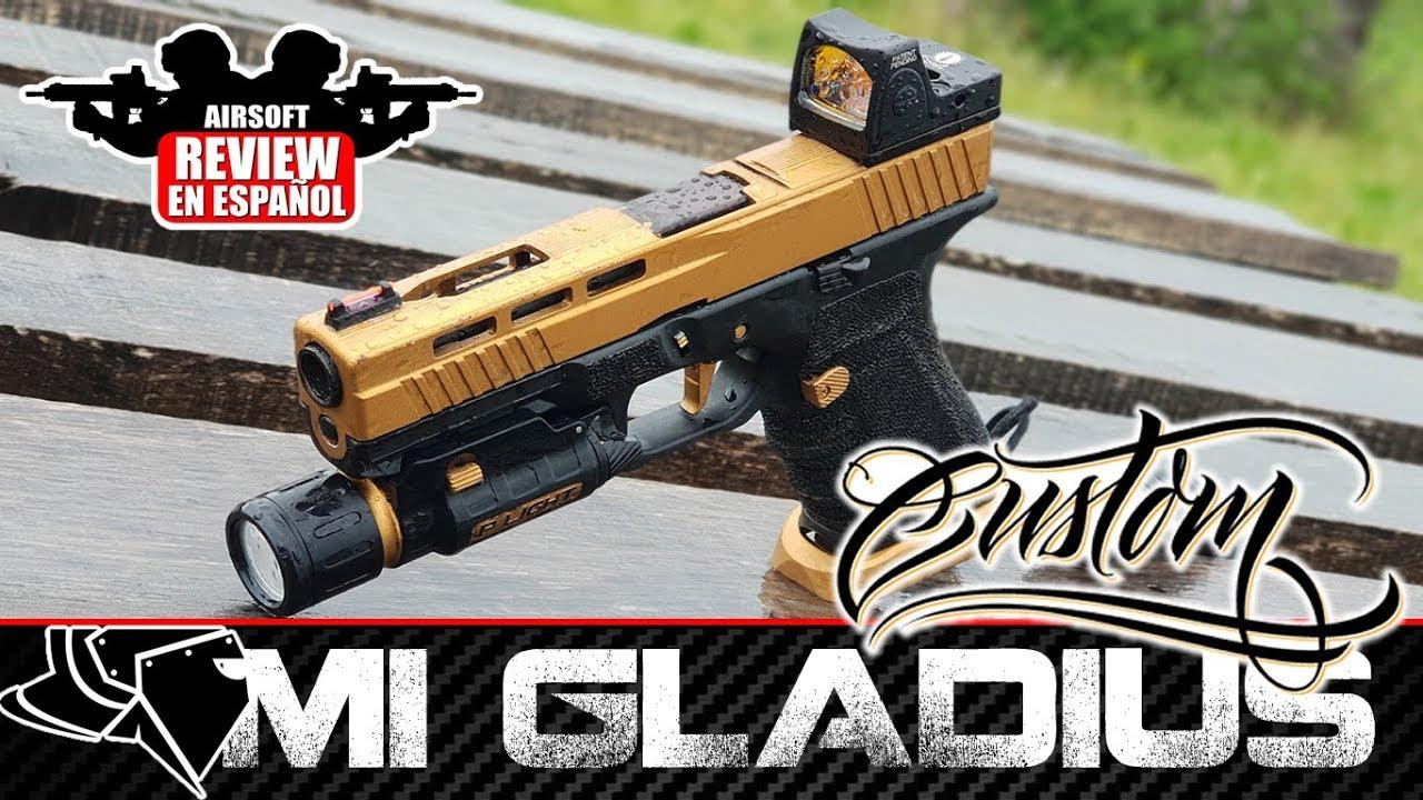MI GLOCK GLADIUS CUSTOM par SECUTOR + GAMEPLAY | Revue Airsoft en espagnol