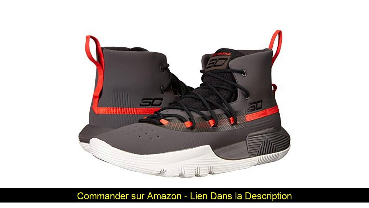 ☀️ Under Armour Homme, Chaussure de Basketball SC 3ZER0 II, Gris, 49.5 EU