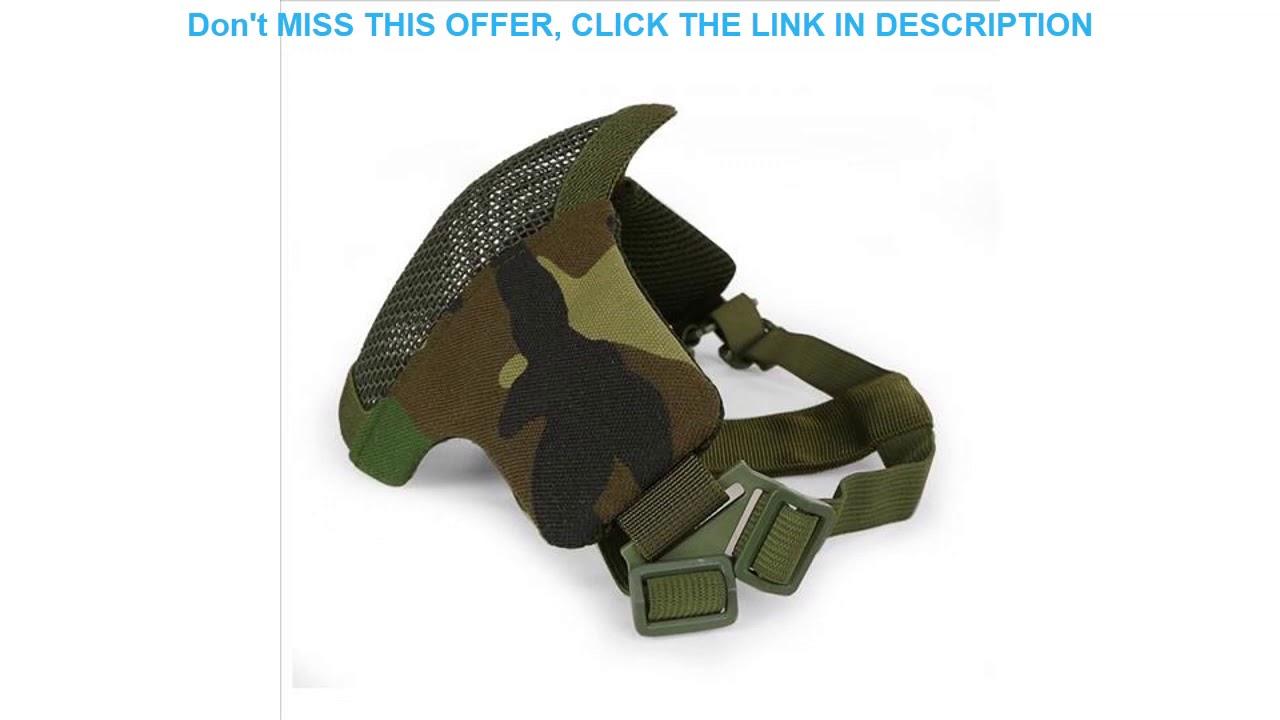 Examen Airsoft demi masque de protection du visage militaire Paintball chasse CS tir cyclisme pliable Lo