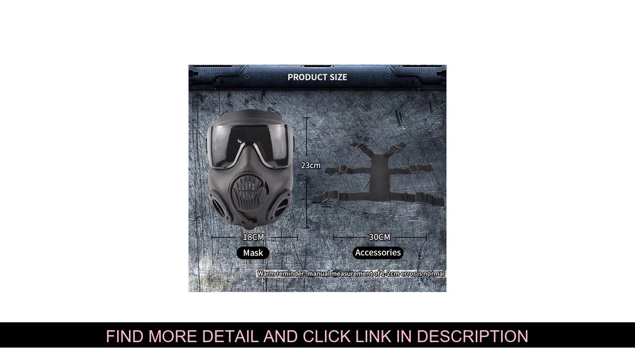 Revue Airsoft Paintball Masque Double Ventilateur Anti-Brouillard Respirant Masque De Protection Ventilateur D'armée En Plein Air Tactica