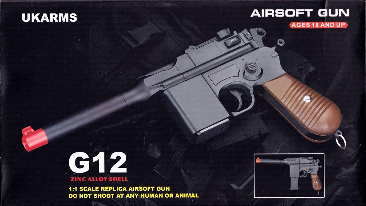 Revue du pistolet Airsoft Galaxy G.12 (M712) (cadeau pour MiscMilitaria)