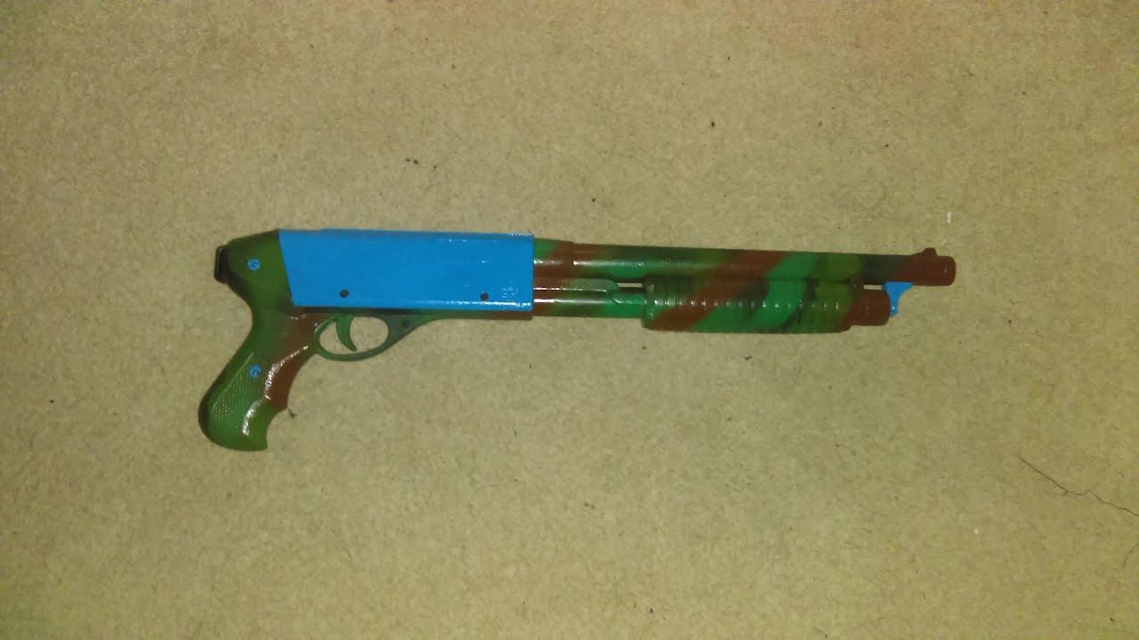 Revue Airsoft du modèle de fusil de chasse Auto Hardball à ressort 870 de 3PSA (camouflage / bleu clair)