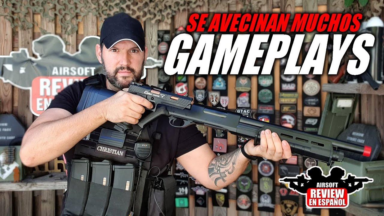 Je reçois de nouvelles répliques pour les gameplays! 🎮   Revue Airsoft en espagnol