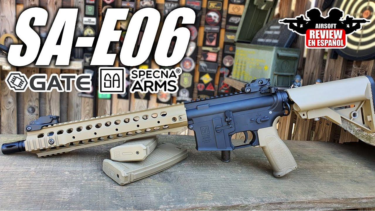 Fusil d'assaut Specna Arms SA-E06 Edge M4 – Revue et essai 🎯 | Revue Airsoft en espagnol