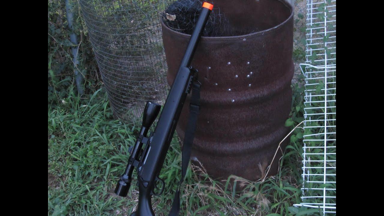 examen du fusil à verrou air soft