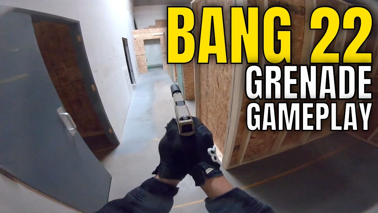 Bang 22 Grenade Gameplay Tactical Airsport Zone Airsoft CQB Gameplay