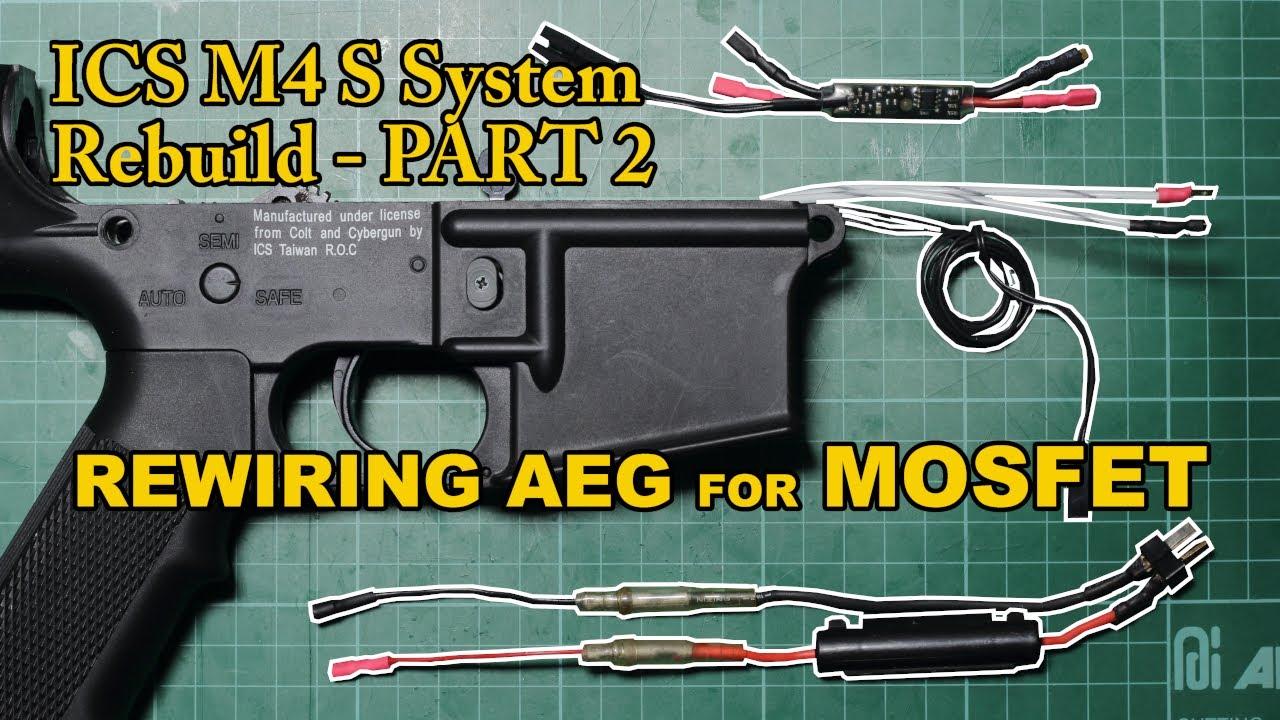 Airsoft Diaries 8: ICS M4 Rebuild Part 2 – Restauration du circuit électrique