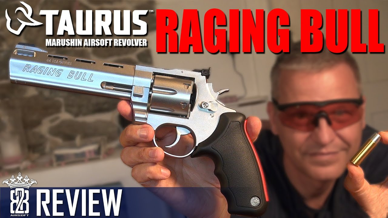 Marushin TAURUS Raging Bull Revolver Airsoft Review Allemand (ENG SUB)