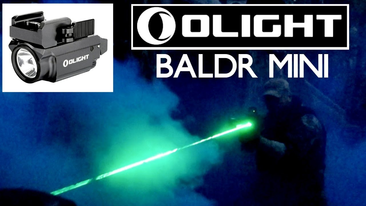Olight Baldr Mini Tactical Rifle Pistol Torch Laser Review   Airsoft   Tournage