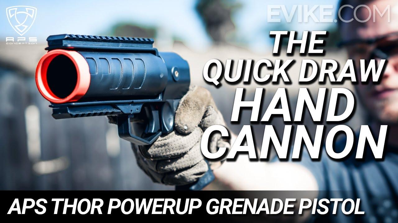 Le canon à main à tirage rapide – APS THOR PowerUp 40mm Airsoft Grenade Launcher Pistol