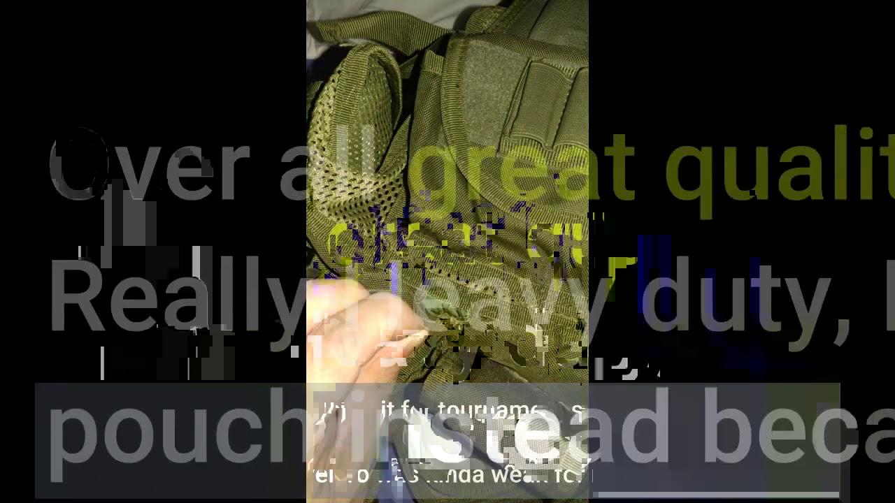 Examen: Gilet tactique Barbarians Molle Gilet militaire Airsoft Paintball Gilet d'assaut Swat …