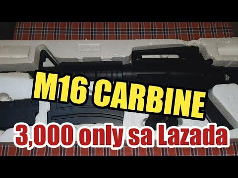Airsoft Gun M16 Carabine Tagalog Tutorial Review, Lazada Airsoft Gun Unboxing Airsoft Gun Prix