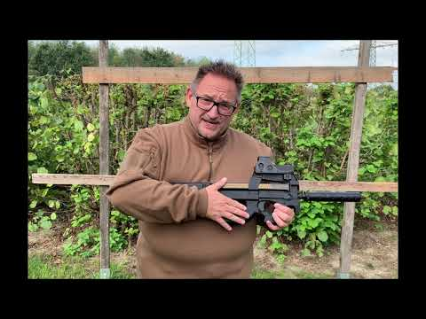 Cyma P90 SMG SD Airsoft Airsoft Unboxing Review deutsch allemand softair.zone shot test
