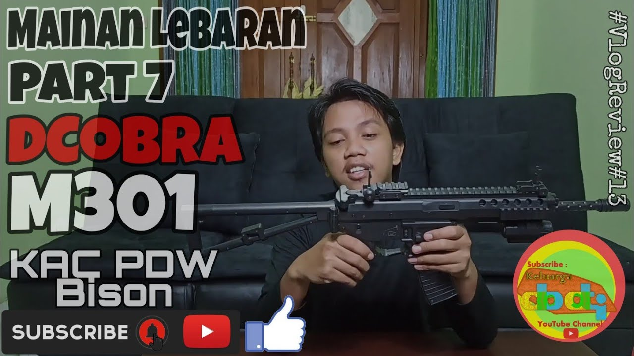 Unboxing & Review Airsoft Gun Spring dCobra M301 KAC PDW Bison