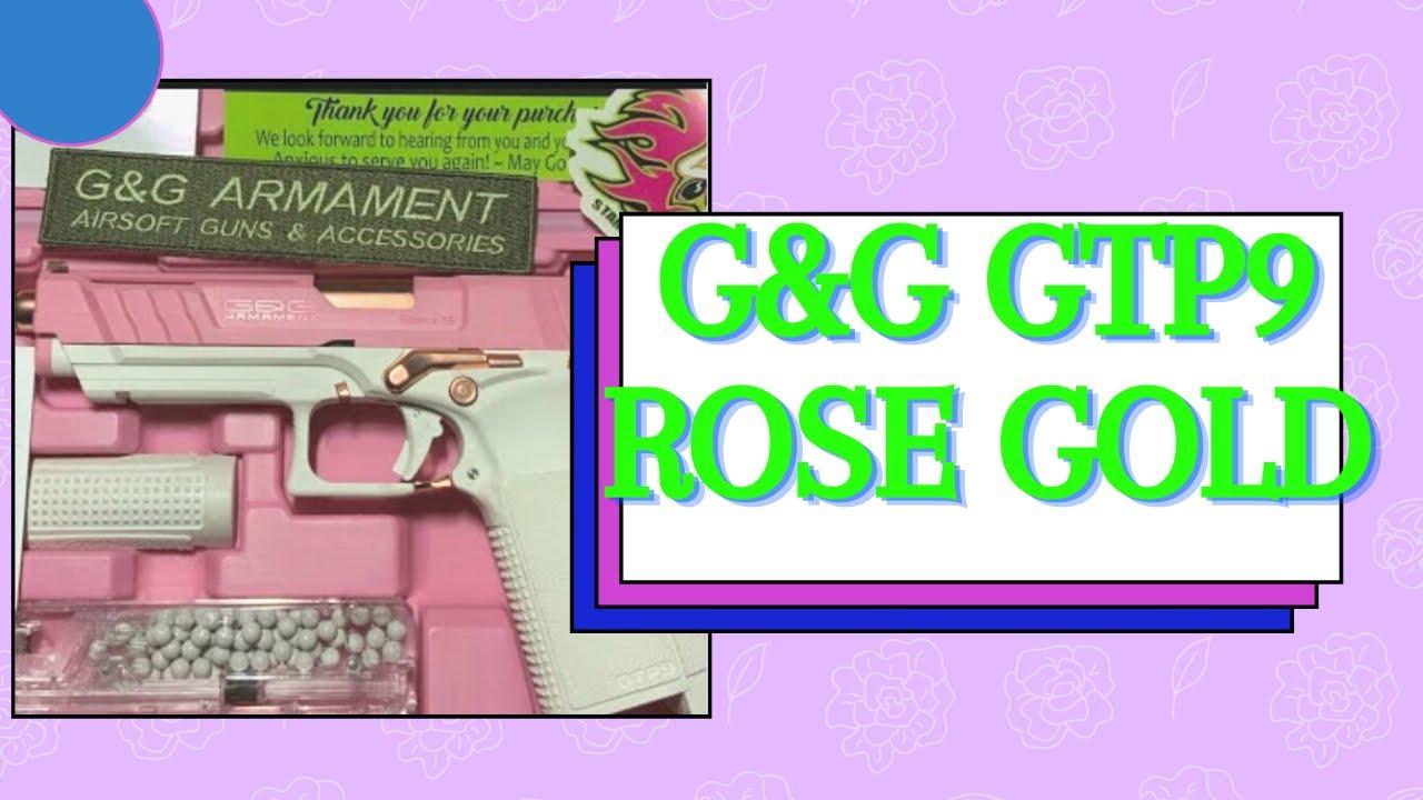 Ouverture et révision de la boîte Airsoft G&G GTP9 Rose Gold.