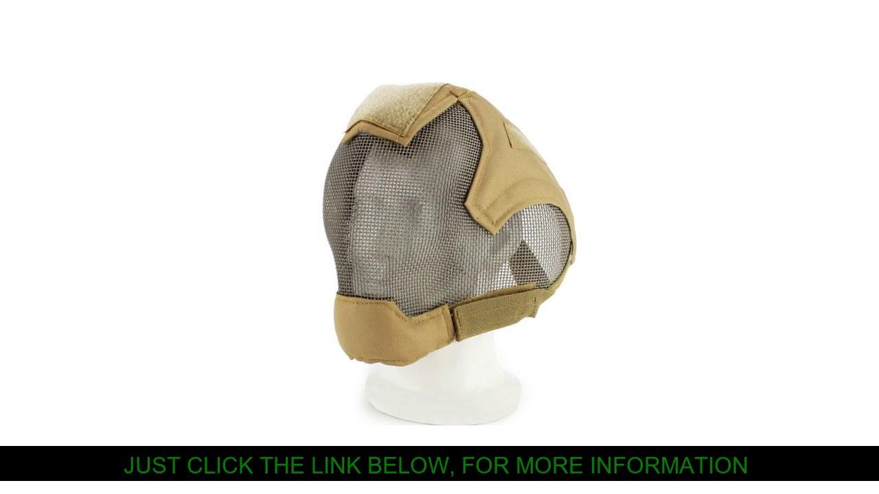 Revue V6 Airsoft Paintball masque complet en acier maille métallique Protection armée militaire CS Wargame Sho