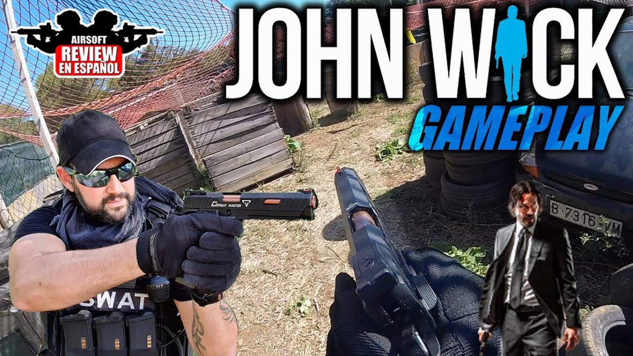 John Wick Gameplay – Maître de combat tactique Taran Hi-Capa 5.1 | Revue Airsoft en espagnol #CQBVALLE