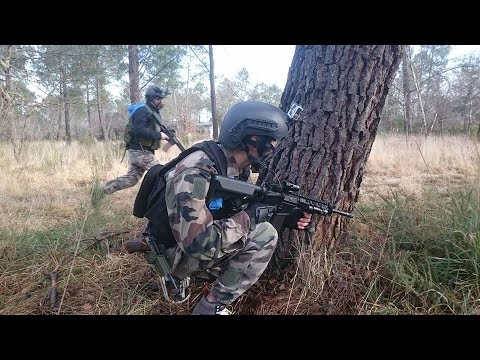 Airsoft battle in the wood