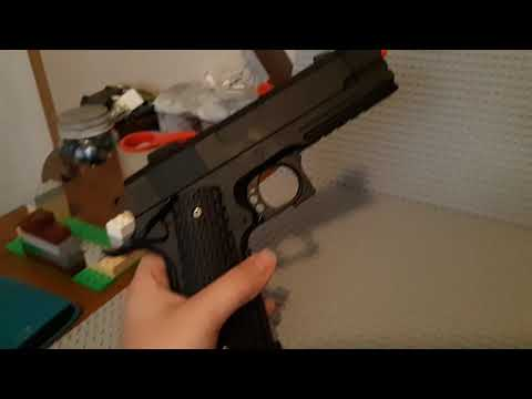Pistolet Airsoft à ressort E3 1911 ::: Review!