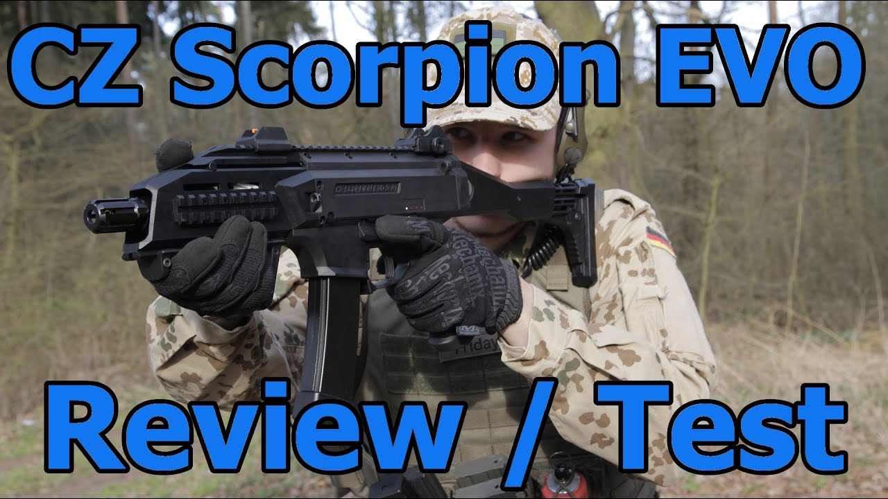 CZ Scorpion EVO ASG Airsoft Review & Test GSPAirsoft allemand / deutsch