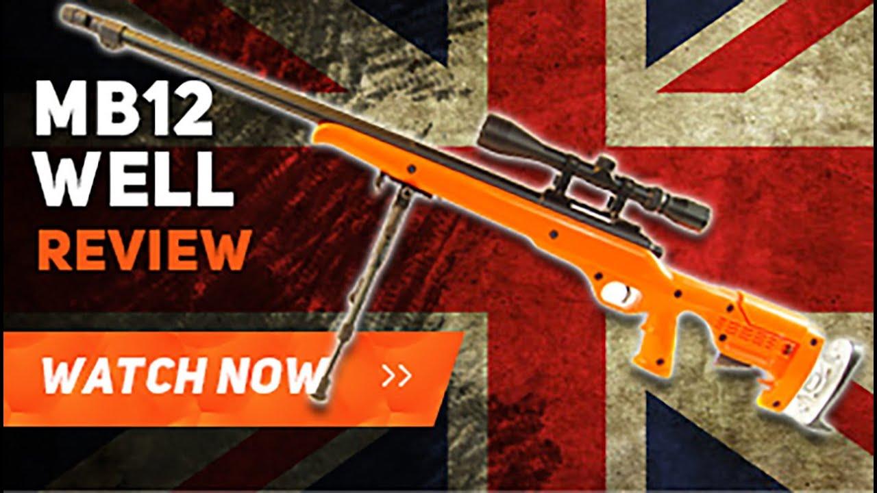 Well MB12 Sniper Rifle Airsoft BBgun Review Test de tir de déballage